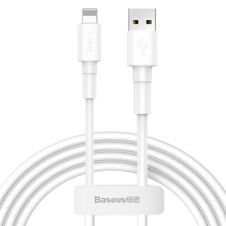 Baseus wytrzymały przewód kabel USB / Lightning 2.4A 1m biały (CALSW-02)