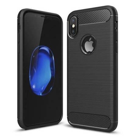 Carbon Case elastyczne etui pokrowiec iPhone XR czarny