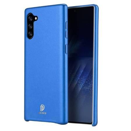 DUX DUCIS Skin Lite case etui pokrowiec ze skóry ekologicznej Samsung Note 10 niebieski