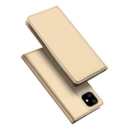 DUX DUCIS Skin Pro kabura etui pokrowiec z klapką iPhone 11 złoty