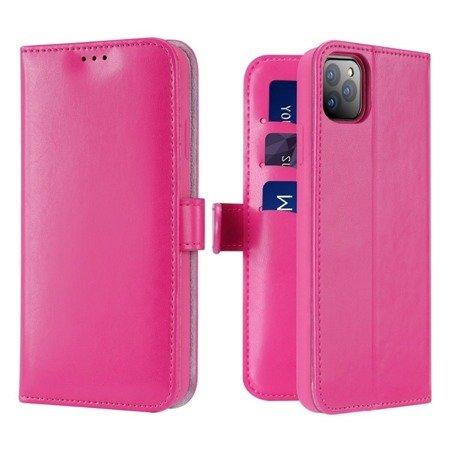 Dux Ducis Kado kabura etui portfel pokrowiec z klapką iPhone 11 Pro Max różowy