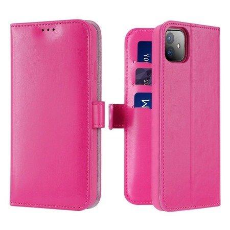 Dux Ducis Kado kabura etui portfel pokrowiec z klapką iPhone 11 różowy