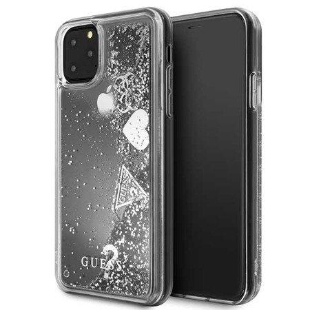 Etui Guess GUHCN65GLHFLSI iPhone 11 Pro Max srebrny/silver hard case Glitter Hearts
