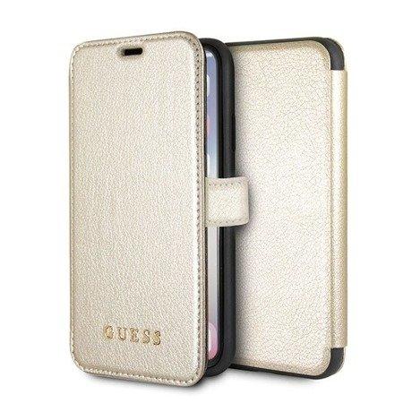 Guess GUFLBKPXIGLGO iPhone X/Xs gold /złoty book Iridescent