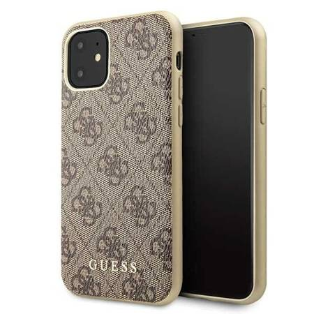 Guess GUHCN61G4GB iPhone 11 brązowy/brown hard case 4G Collection