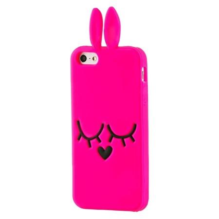Gumowe etui 3D case króliczek Samsung Galaxy Note 3 różowy