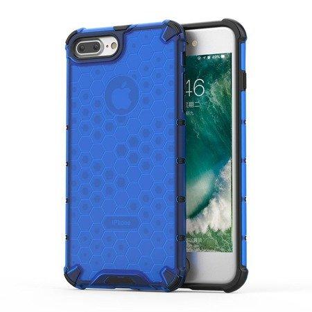 Honeycomb etui pancerny pokrowiec z żelową ramką iPhone 8 Plus / iPhone 7 Plus niebieski