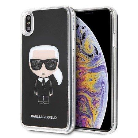 Karl Lagerfeld KLHCI65ICGBK iPhone Xs Max czarny/black Iconic Glitter