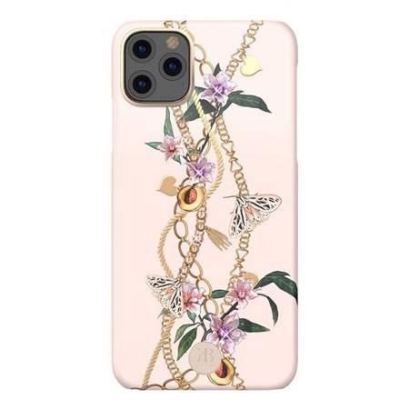 Kingxbar Luxury Series etui ozdobione oryginalnymi Kryształami Swarovskiego iPhone 11 Pro różowy