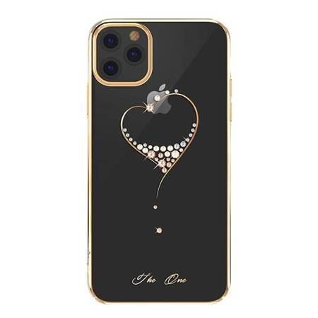 Kingxbar Wish Series etui ozdobione oryginalnymi Kryształami Swarovskiego iPhone 11 złoty