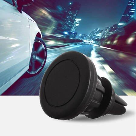 Magnetyczny uchwyt samochodowy na kratkę wentylacyjną nawiew czarny