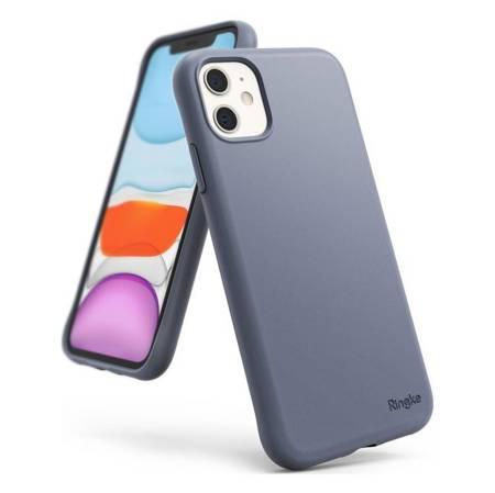 Ringke Air S ultracienkie żelowe etui pokrowiec iPhone 11 niebieski (Lavender Gray) (ADAP0012)