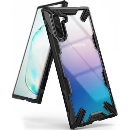 Ringke Fusion X etui pancerny pokrowiec z ramką Samsung Galaxy Note 10 czarny (FUSG0027)