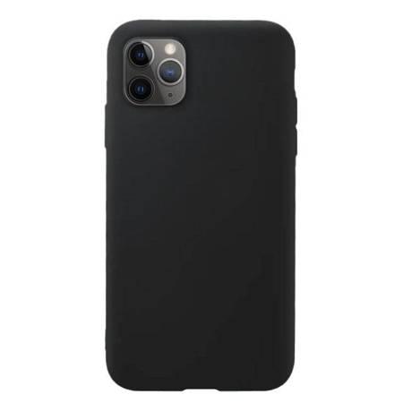 Silicone Case elastyczne silikonowe etui pokrowiec iPhone 11 Pro Max czarny