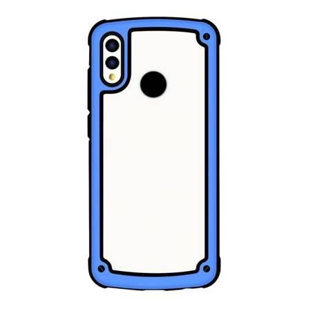 Solid Frame etui wytrzymały pokrowiec z żelową ramką Samsung Galaxy A40 niebieski