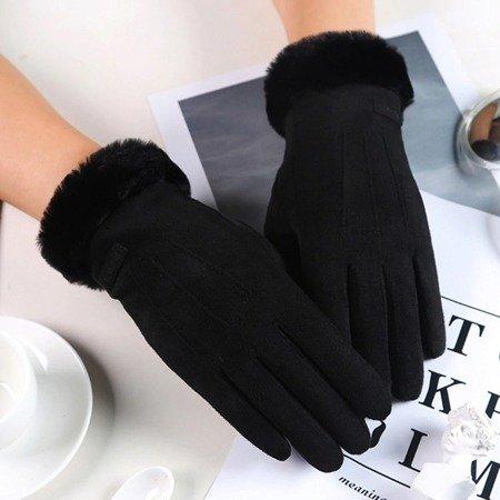 Uniwersalne rękawiczki na zimę do ekranów dotykowych czarny