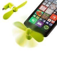 Wiatraczek wentylator micro USB do telefonu i tabletu zielony