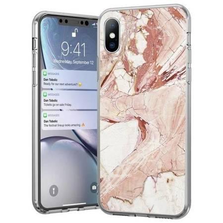 Wozinsky Marble żelowe etui pokrowiec marmur Huawei P30 Lite różowy
