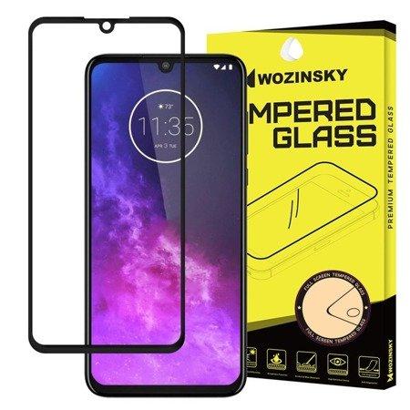 Wozinsky super wytrzymałe szkło hartowane Full Glue na cały ekran z ramką Case Friendly Motorola One Zoom czarny