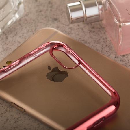 Żelowy pokrowiec etui Metalic Slim Huawei Honor 4x Różowy
