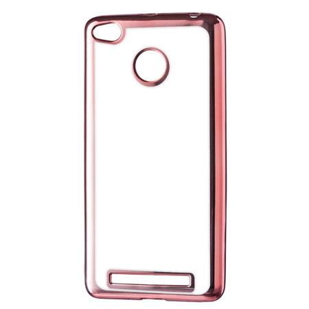 Żelowy pokrowiec etui Metalic Slim Xiaomi Redmi 3S różowy